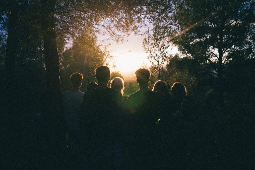 Seminar bei Sonnenuntergang