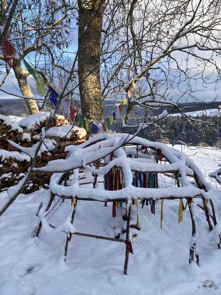 Schwitzhütte im Winter